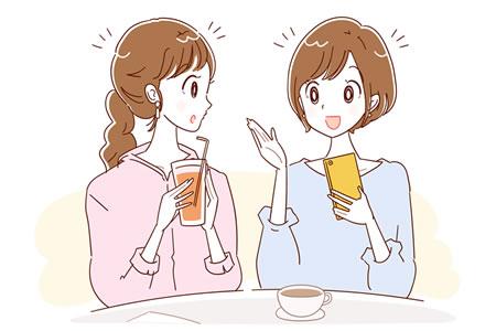外食する女性
